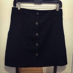 Lush Button Down Mini Skirt
